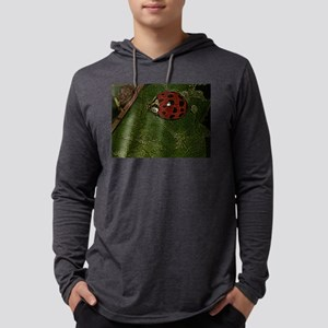 Stylized Ladybug Mens Hooded Shirt